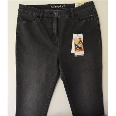 Toni, Be loved Pipe- modische Jeans in  Anthrazit, 360 Grad Stretch