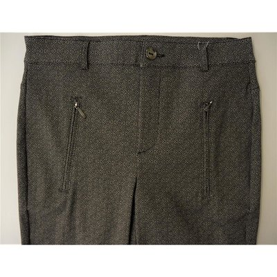 Cro modische Slim Fit  Hose Schwarz Taupe gemustert Stretch