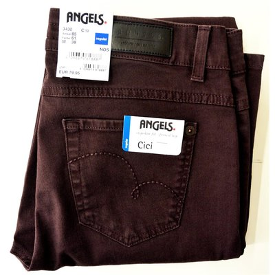 ANGELS Cici modische Damen Jeans in Beere, Stretch