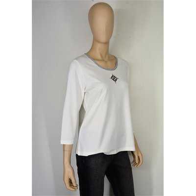 RABE Damen Shirt Offwhite in Offwhite mit Applikation 3/4 Arm