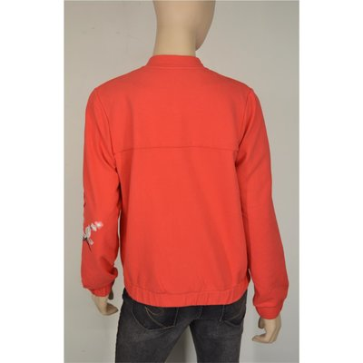VIA APPIA raffinierte Sweatjacke Rot-Orange