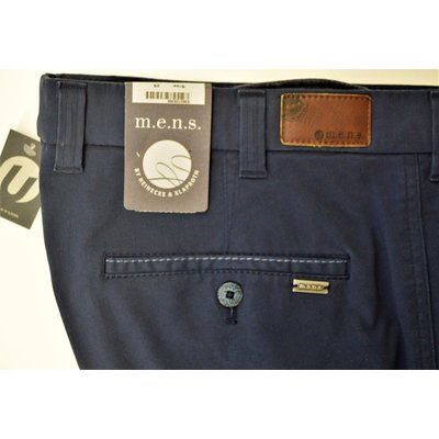 m.e.n.s. Madison U, modische Baumwollhose in Blau/Marine, Stretch, Gr. wählbar