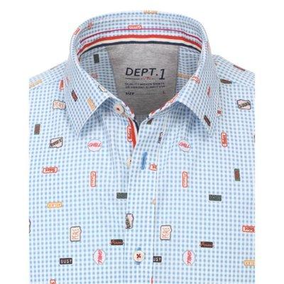 0c7fd56f7fe1ff Venti modisches Herren-Hemd mit coolem Retro-Druck Slim Fit ...