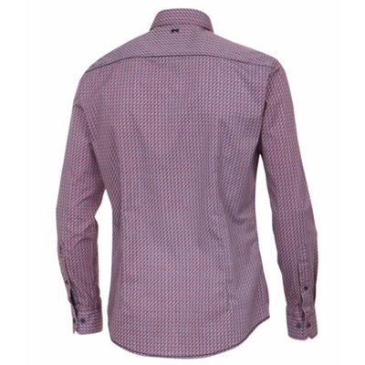 Venti Herren Slim Fit Hemd mit Minimal Print, Button Down