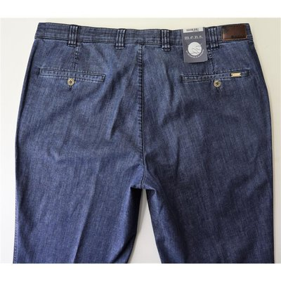 mens Madison Herren-Jeans in Stone Blue mit Schrägtasche Stretch