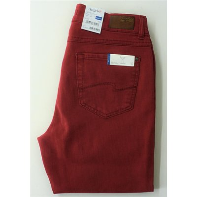Angels Skinny modische Slim Fit Jeans in tollem Rubin-Rot