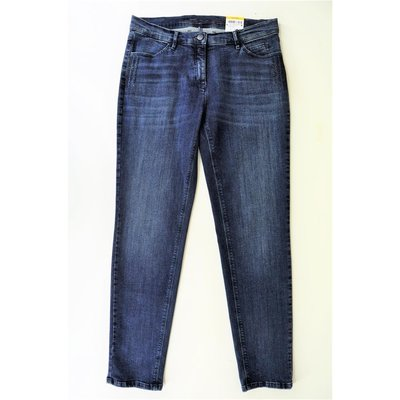 Toni Fashion Perfect Shape Damen Slim Fit Jeans mit Strassbesatz in Blue Denim