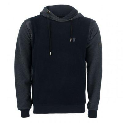 iK5 modisches Herren Sweatshirt Hoody in Blau mit Kapuze 3e74c41077
