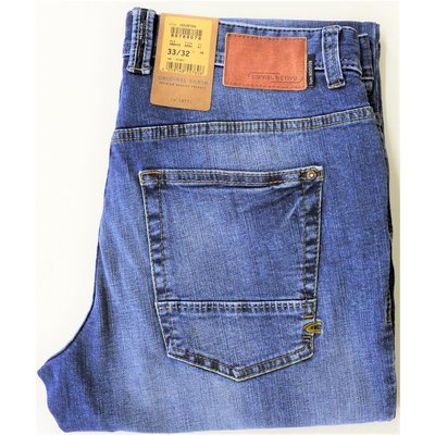 promo code 7c725 1a912 camel active Houston 5-Pocket Herren Jeans in Used Blue Stretch