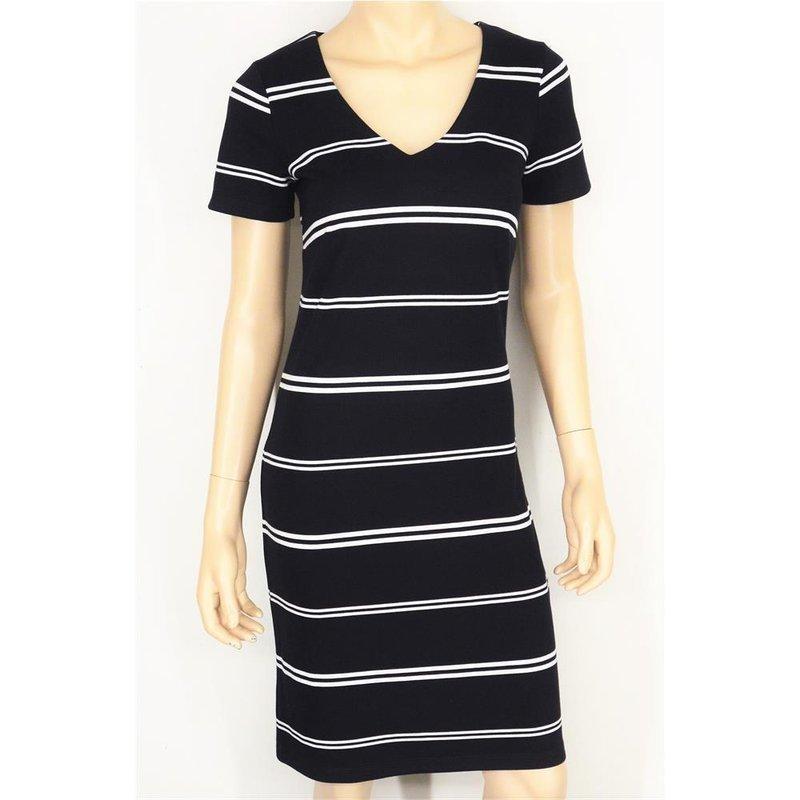 soyaconcept dena stripe modisches kleid in blau/weiß