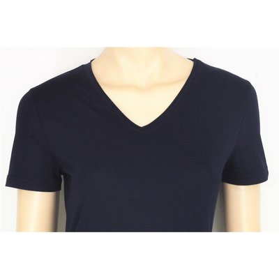 soyaconcept Pylle 219 Damen Basic Shirt mit V-Ausschnitt in Navy Blue M