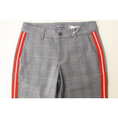 65042a9ef43036 ... Geisha Fashion modische Damen Hose/Pants mit Glencheck Muster und rotem  Streifen ...