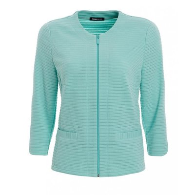 Frank Walder leichter Damen Blazer in Mint, 3/4 Arm, Stretch