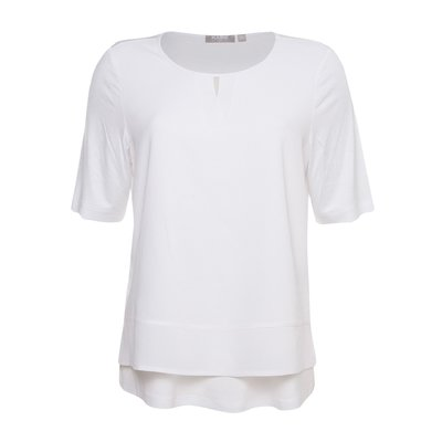 RABE stylisches Damen Basic Shirt in Weiß