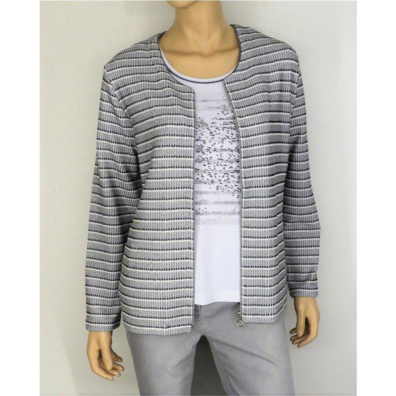 b3b361388e RABE raffiniertes Damen Twin Set mit leichter Jacke und passendem Shi