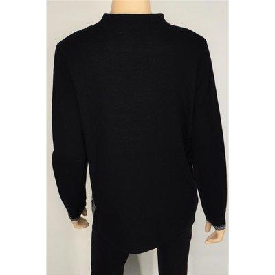 reputable site 0f594 bc784 Via Appia modischer Damen Pullover mit Stehkragen in längerer gerader Form
