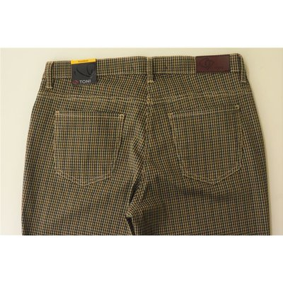 TONI Fashion Perfect Shape   5-Pocket Hose Pepita Muster Petrol Bordeaux Braun