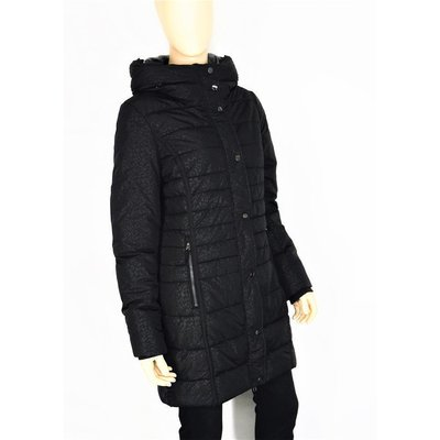 Geisha Fashion modische Winterjacke/Mantel in Schwarz mit Leoparden Muster