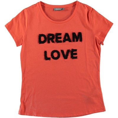 Geisha Fashion Damen T-Shirt DREAM LOVE in Coralle/Orange