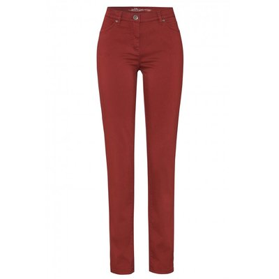 Toni Hose Perfect Shape Slim weiche 5-Pocket Baumwollhose in Rot/Rusty Red