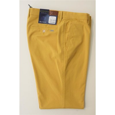 mens Hose Madison-UHerren Baumwoll Hose/Chino`s in Senfgelb