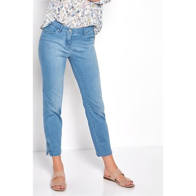TONI FASHION Perfect Shape Zip  Damen 7/8 Jeans in Bleached Used, Stretch