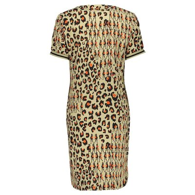 Geisha Fashion stylisches Damen Kleid in Sand Combi mit tollem Aufdruck