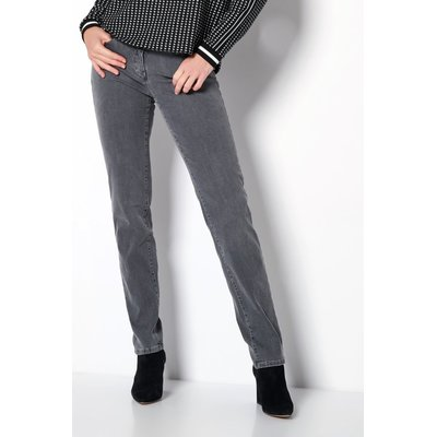 Toni Fashion Perfect Shape Slim Damenjeans in Used Grey, Stretch,