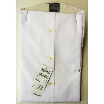 Venti, 1/2 Arm Hemd in Weiß, Baumwolle, Slim Fit, Kentkragen