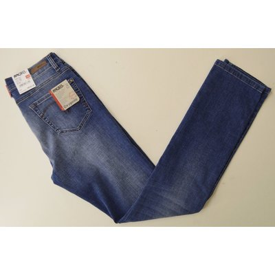 Angels Cici, modische Slim Fit Jeans, Stone Blue m. tollen Effekten,
