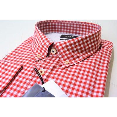 Genießen Sie kostenlosen Versand ausgewähltes Material Auschecken BRAX Danilo Hi Flex, modisches Karo Hemd in Rot/Weiß, Button Down